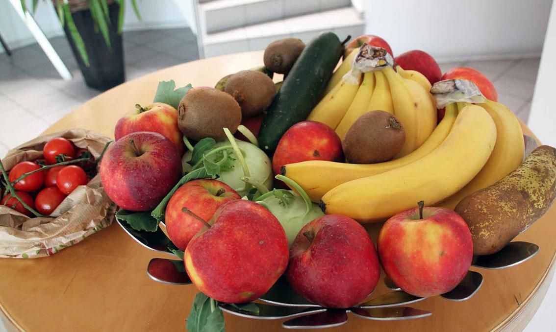 Obst und Gemüse für die Pause