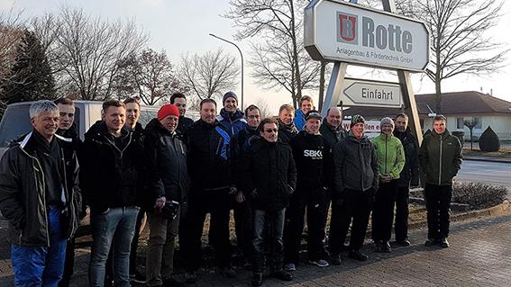 1. Warsteiner Flutlichtskifahren nach Willingen für die Firma Ulrich Rotte
