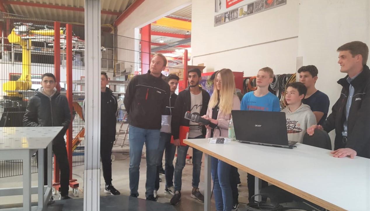 Technikkurs der Gesamtschule Salzkotten zu Gast bei Rotte