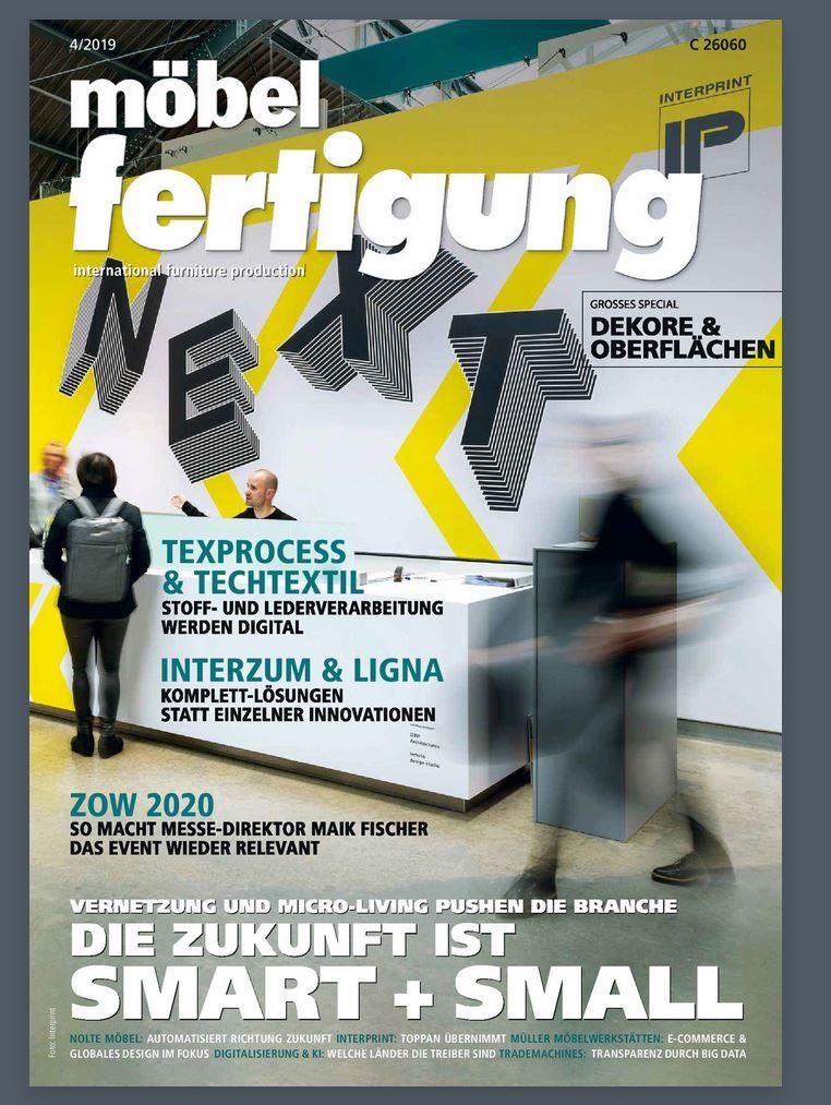 Automatisierung in der Möbelindustrie durch Ulrich Rotte Fachzeitschrift möbelfertigung 04/2019