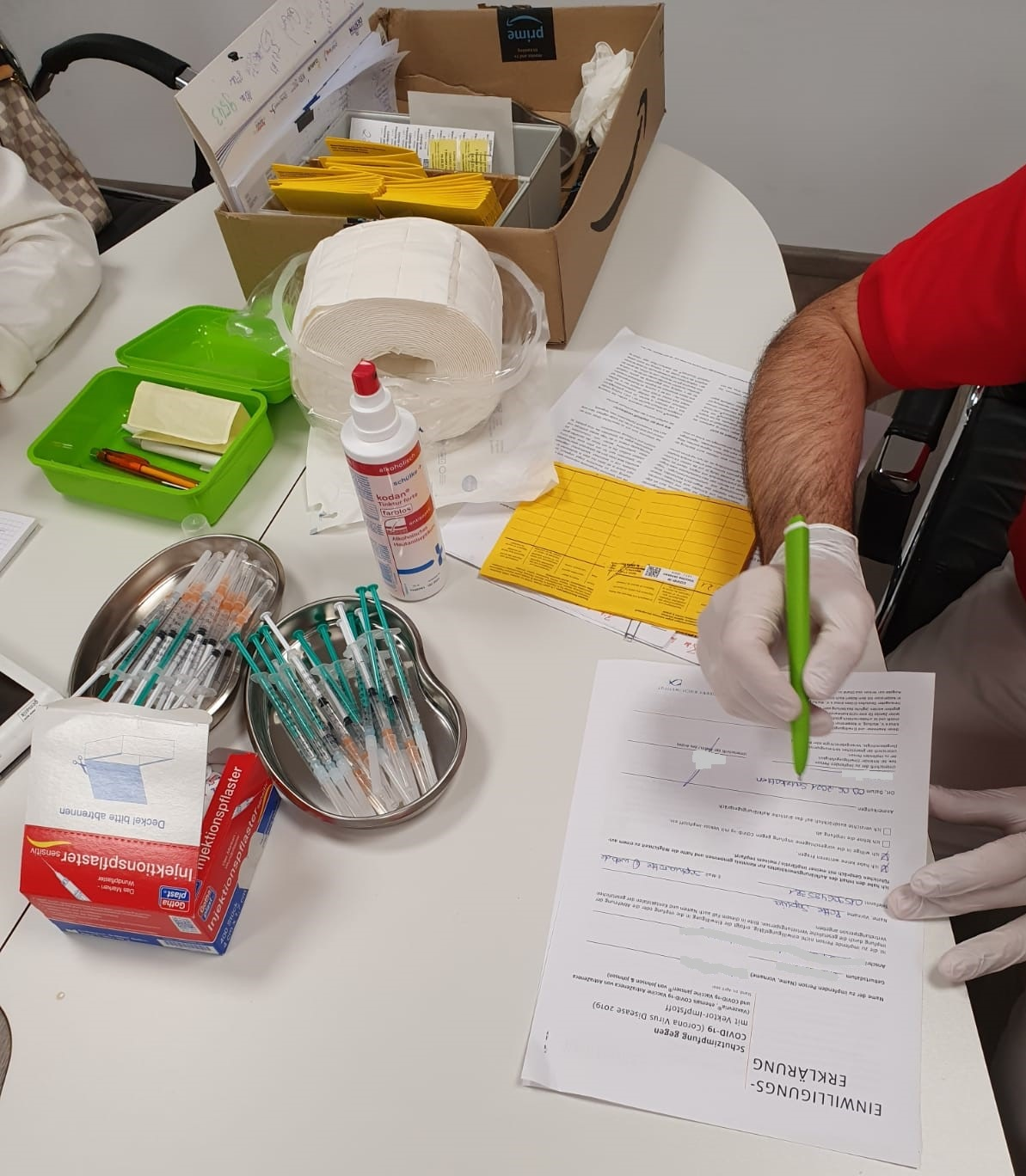 Rotte Impfaktion gegen das Corona Virus