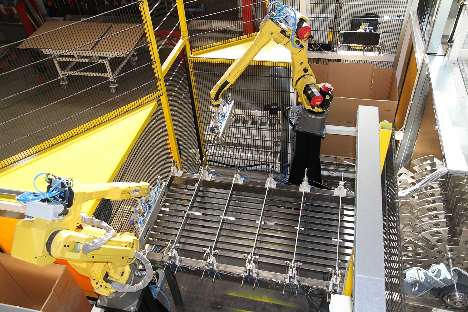 Machine for packing bags and pouches
