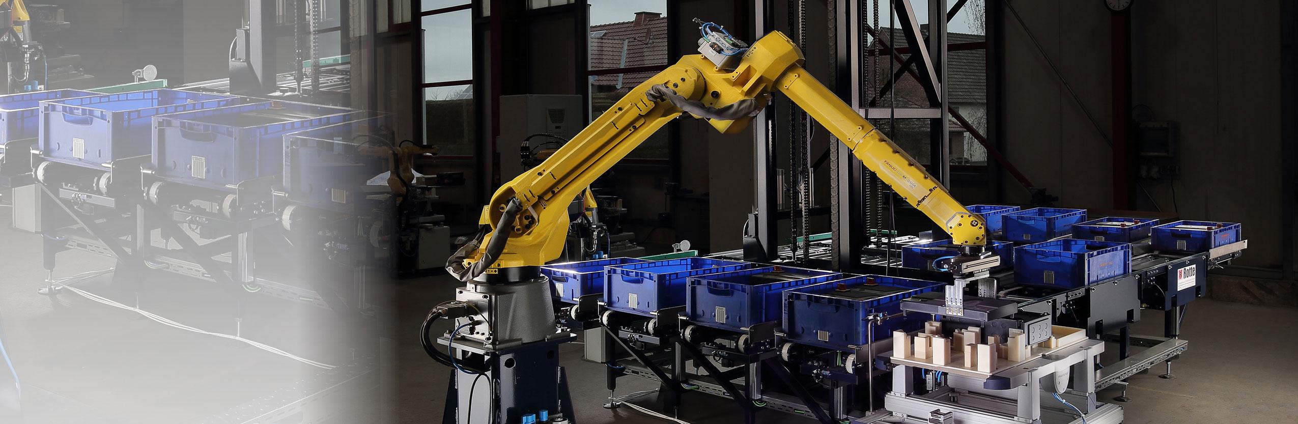 Rationalisierung durch Robotik und Automatisierungstechnik