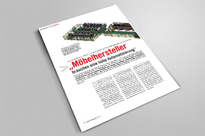 Bringt jahrzehntelange Erfahrung in der Möbelindustrie mit: Ulrich Rotte Anlagenbau und Fördertechnik