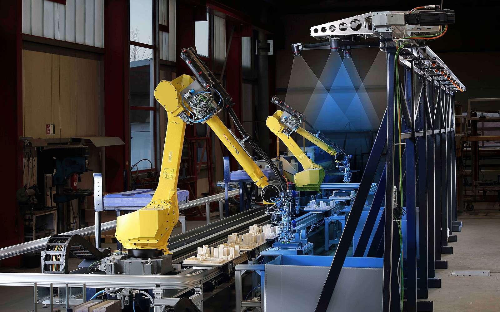3D Bin Picking mit Keyence 3D Vision Kamera in Roboterzelle