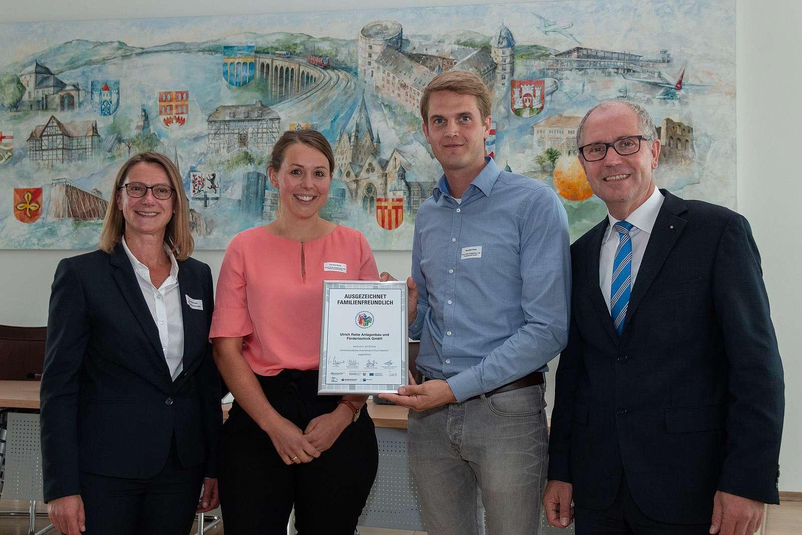 Auszeichnung Familienfreundliches Unternehmen 2019 Rotte