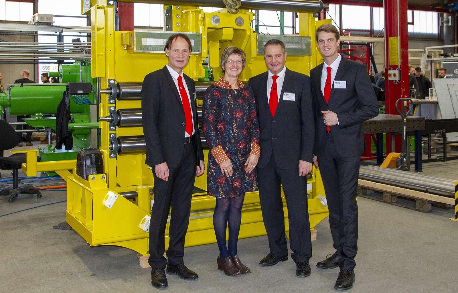 Produktschautag 2019 Dr. Franz-Barthold Gockel, Brigitte Rotte, Ulrich Rotte, Benedikt Rotte