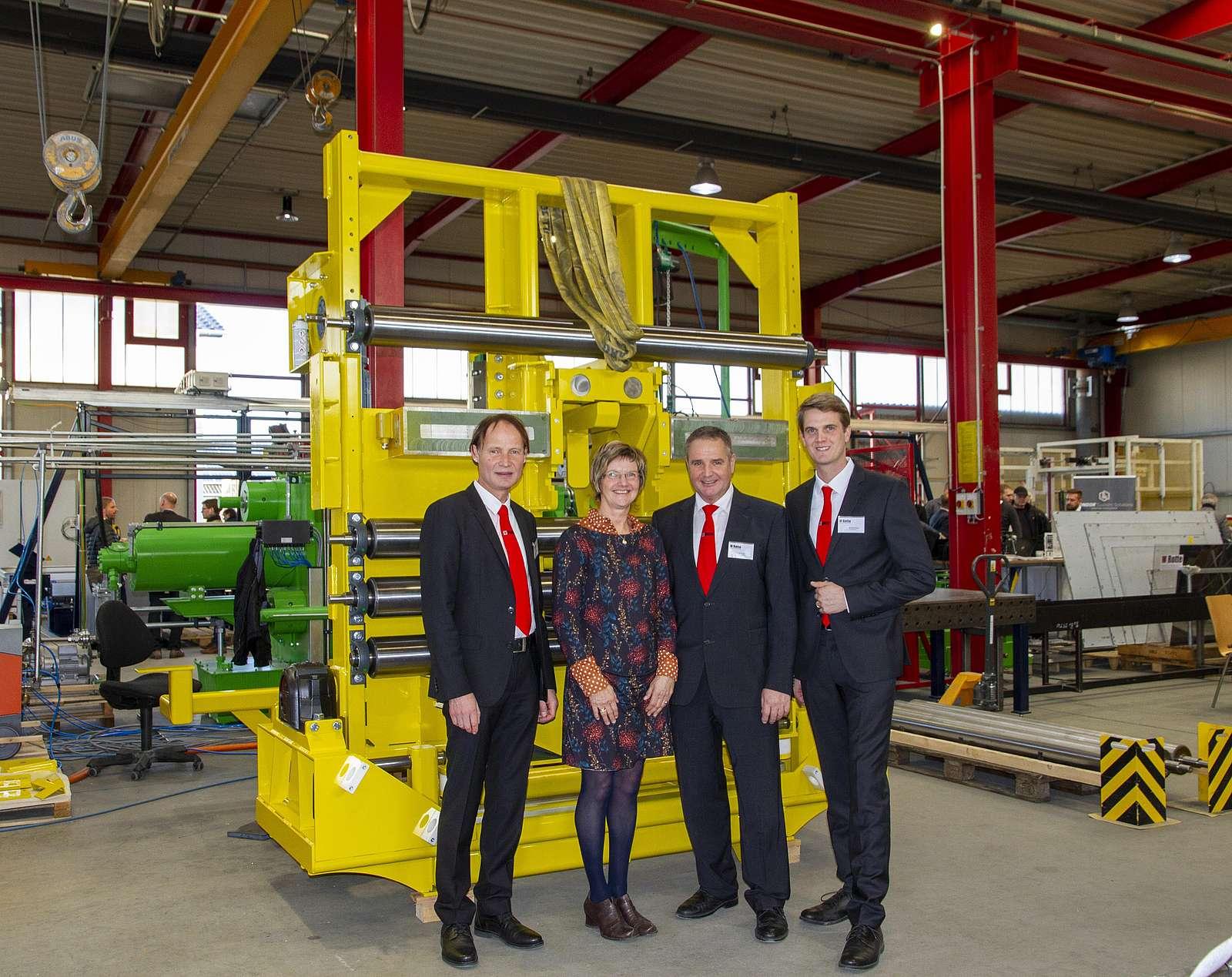 Produktschautag 2019: Dr. Franz-Barthold Gockel, Brigitte Rotte, Ulrich Rotte, Benedikt Rotte