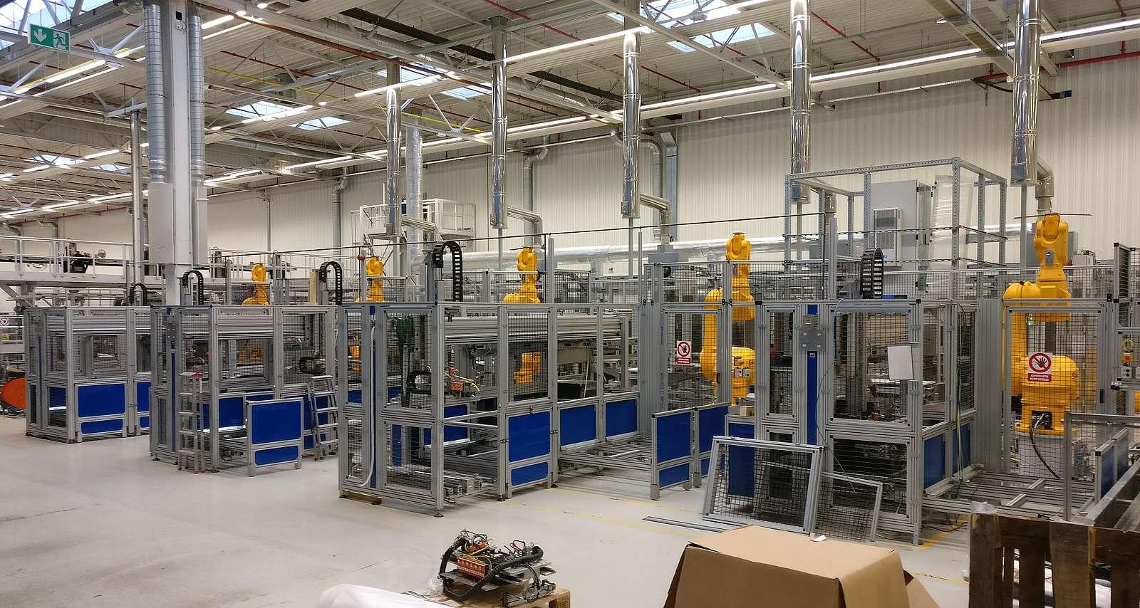 Umbauprojekt Handling von Bitumenmatten