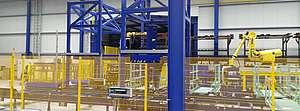 Teilehandling Produktionsroboter