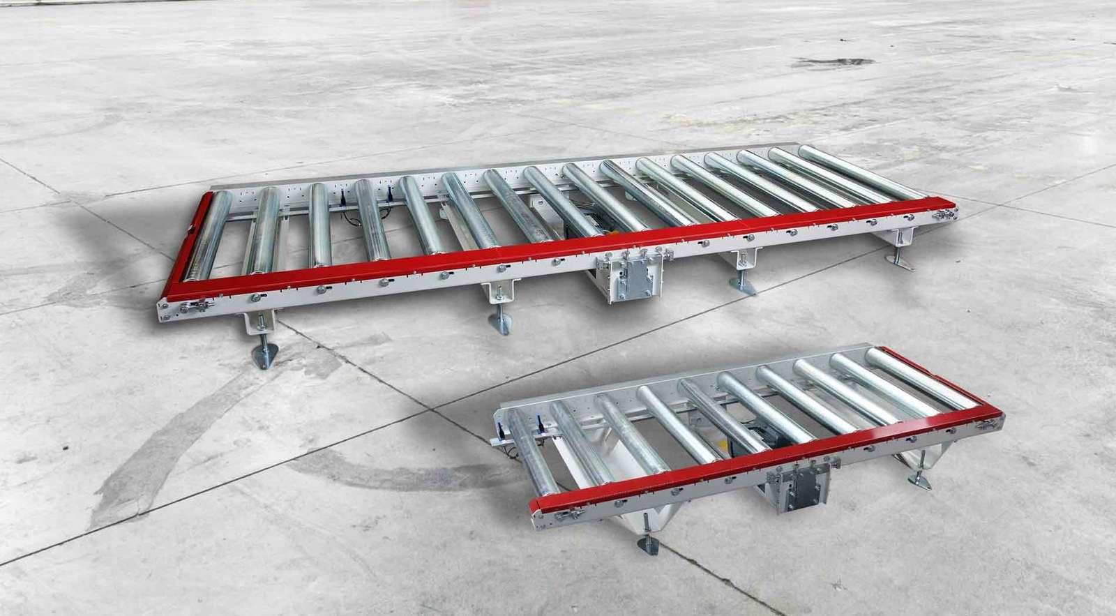 Rollenbahnsysteme mit modulare Bauweise