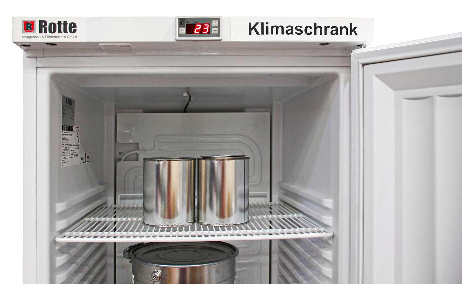 Klimaschrank | Lagerung von Kunst- und Gießharzen, Klebern und Lacken, aber auch für andere temperaturempfindliche Materialie